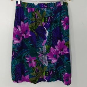 Vintage Tropical Floral Skirt Size 1X